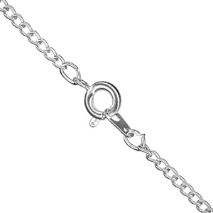 "18"" Curb Chain (Silver Plated)"