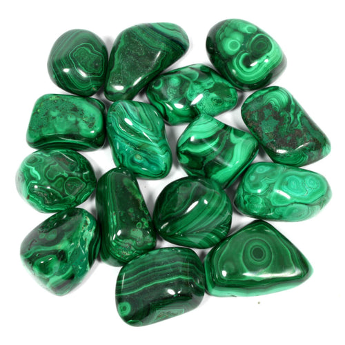 Malachite Polished Tumblestone Healing Crystals