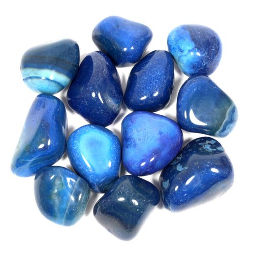 Blue Agate Polished Tumblestone Healing Crystals