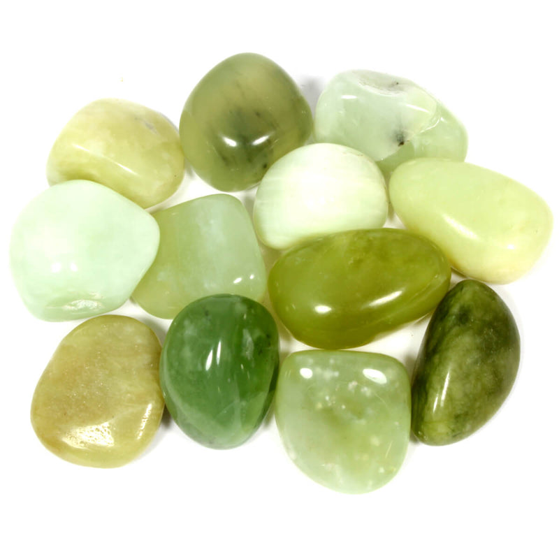 New Jade (Serpentine) Polished Tumblestone Healing Crystals