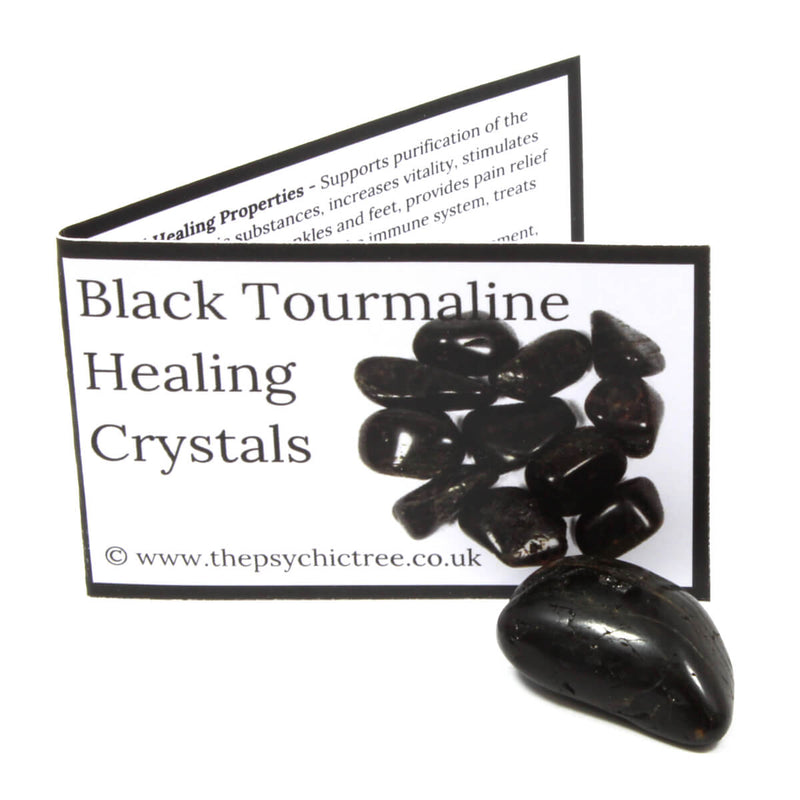 Black Tourmaline Polished Tumblestone Healing Crystals
