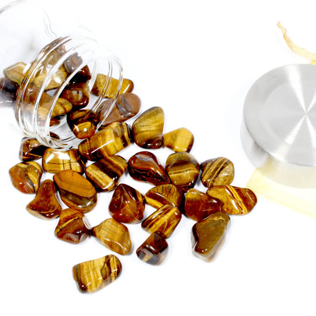 Crystal Water Bottle Pack - Gold Tigers Eye for Good Luck