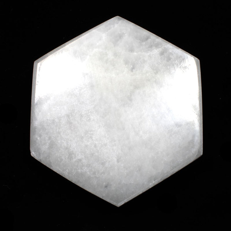 Selenite Hexagonal Charging Plate