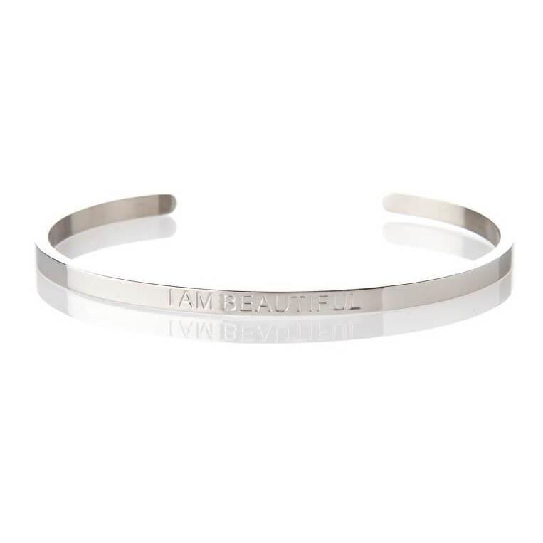 I Am Beautiful - Silver Affirmation Bracelet