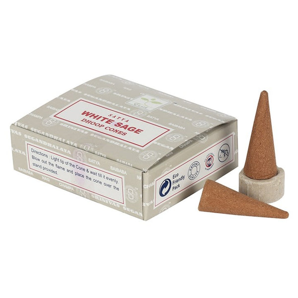 White Sage - Satya Incense Dhoop Cones