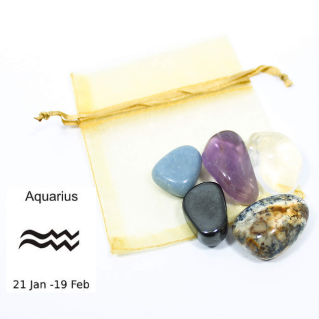 Aquarius - Sign Of The Zodiac Healing Crystal Pack