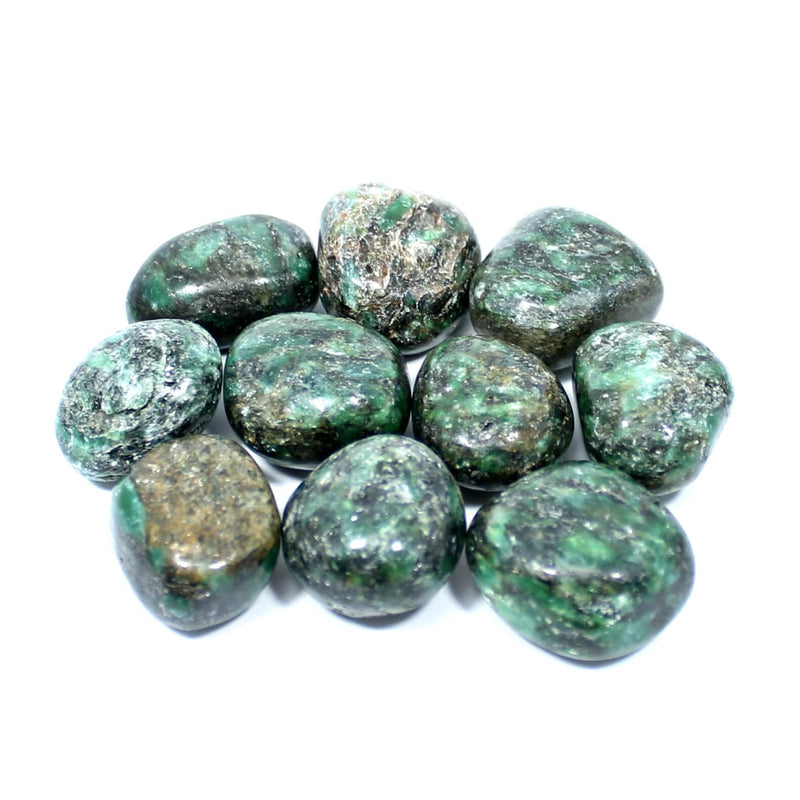 Green Mica Polished Tumblestone Healing Crystals