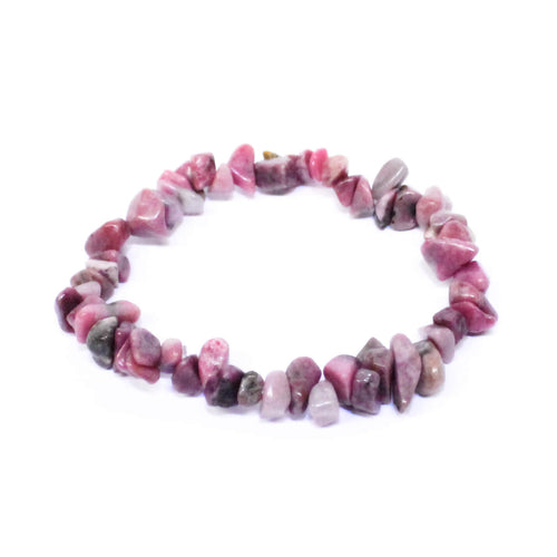 Rhodonite Stone Chip Bracelet