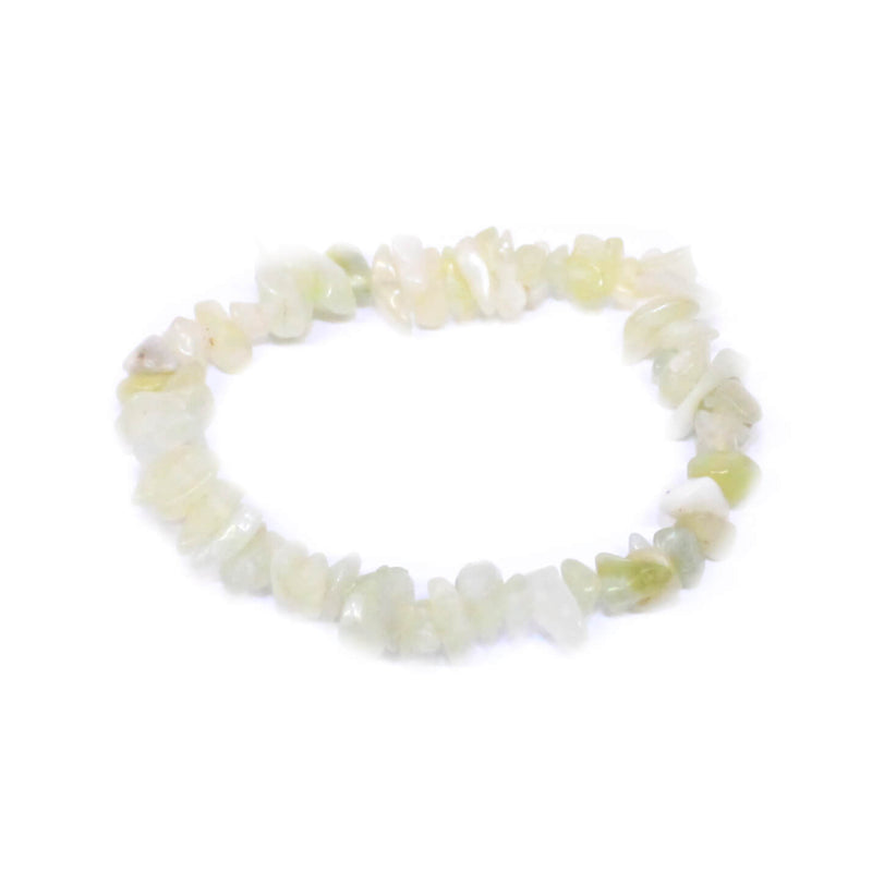 New Jade Serpentine Stone Chip Bracelet