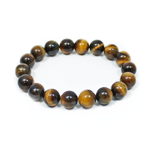 Gold Tigers Eye Beaded Bracelet