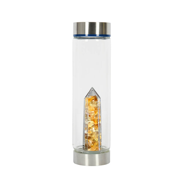 Bewater Abundance Glass Bottle - Citrine