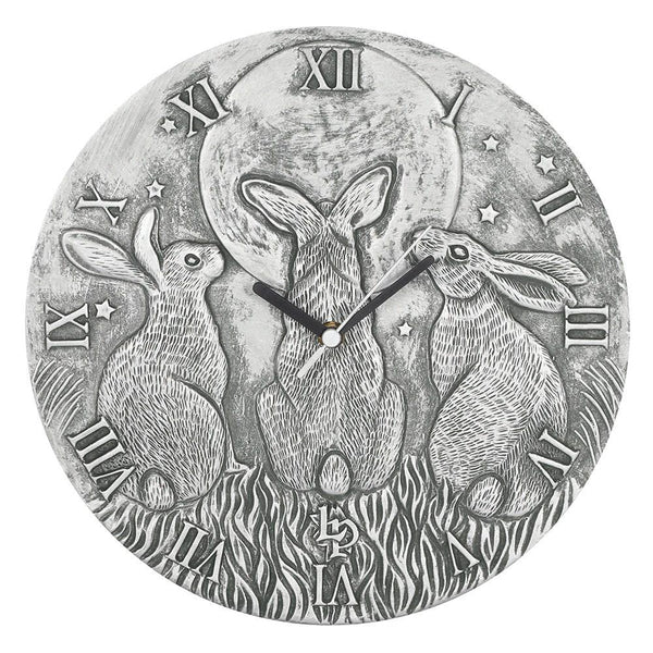 Moon Shadows Clock (Silver)