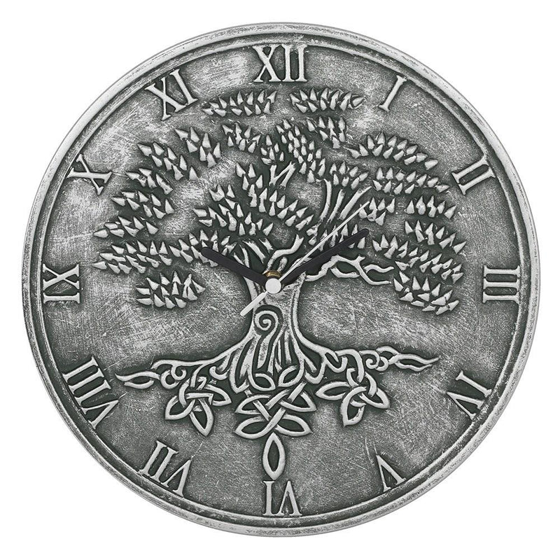 Tree Of Life Clock (Silver)