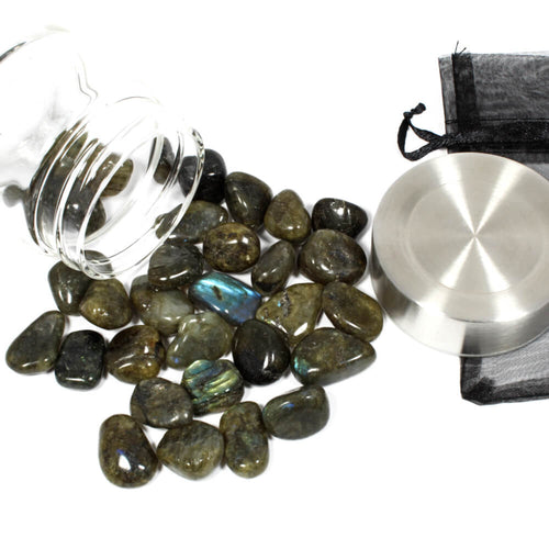 Crystal Water Bottle Pack - Labradorite for Deflection and Protection
