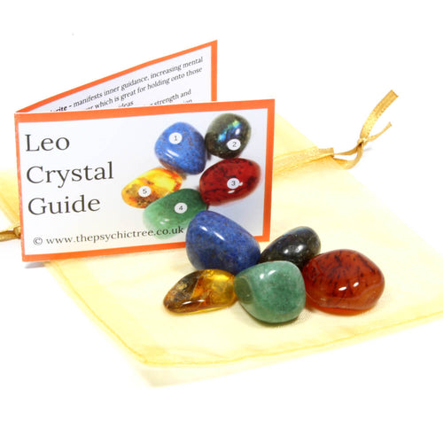 Leo - Sign Of The Zodiac Healing Crystal Pack