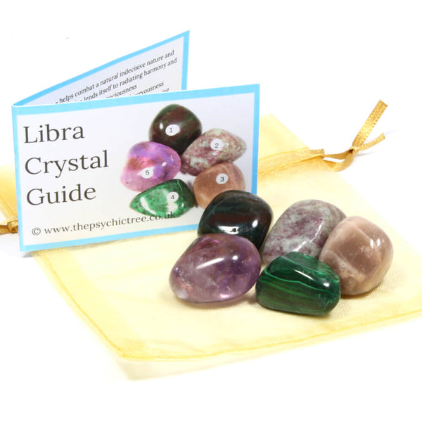 Libra - Sign Of The Zodiac Healing Crystal Pack