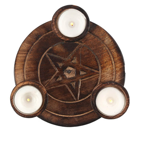 Pentagram Tealight Candle Holder
