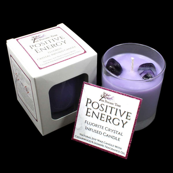 Positive Energy - Crystal Infused Scented Candle