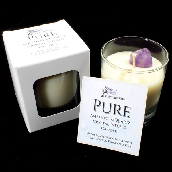 Pure - Crystal Infused Scented Candle