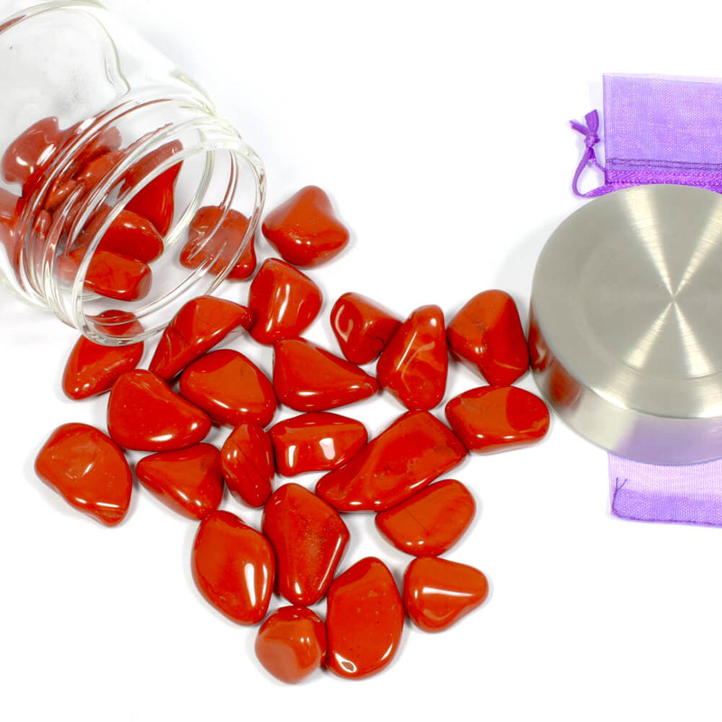 Crystal Water Bottle Pack - Red Jasper for Balance