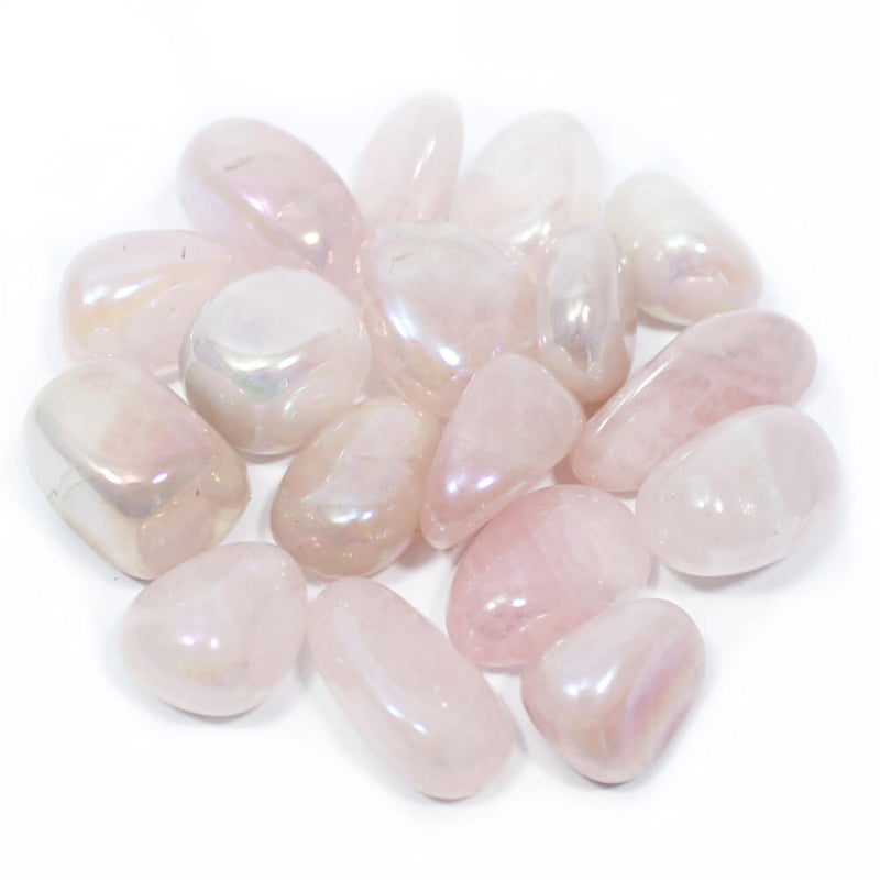 Rose Aurora Quartz Polished Tumblestone Healing Crystals