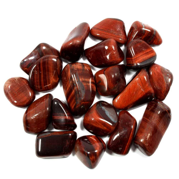 Red Tigers Eye Polished Tumblestone Healing Crystals