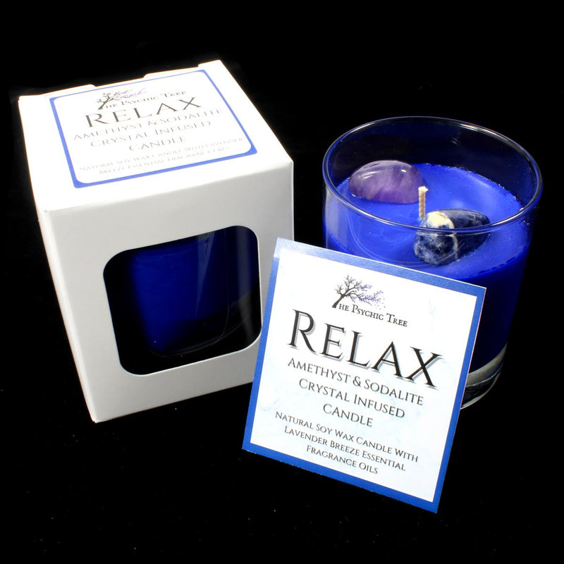 Relax - Crystal Infused Scented Candle