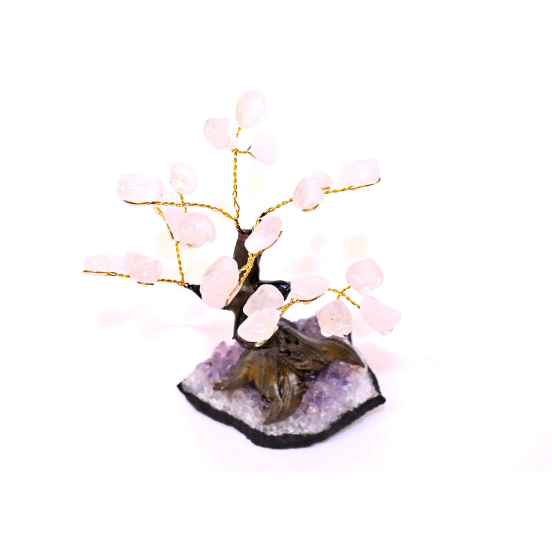 Rose Quartz Bonsai Tree - Small