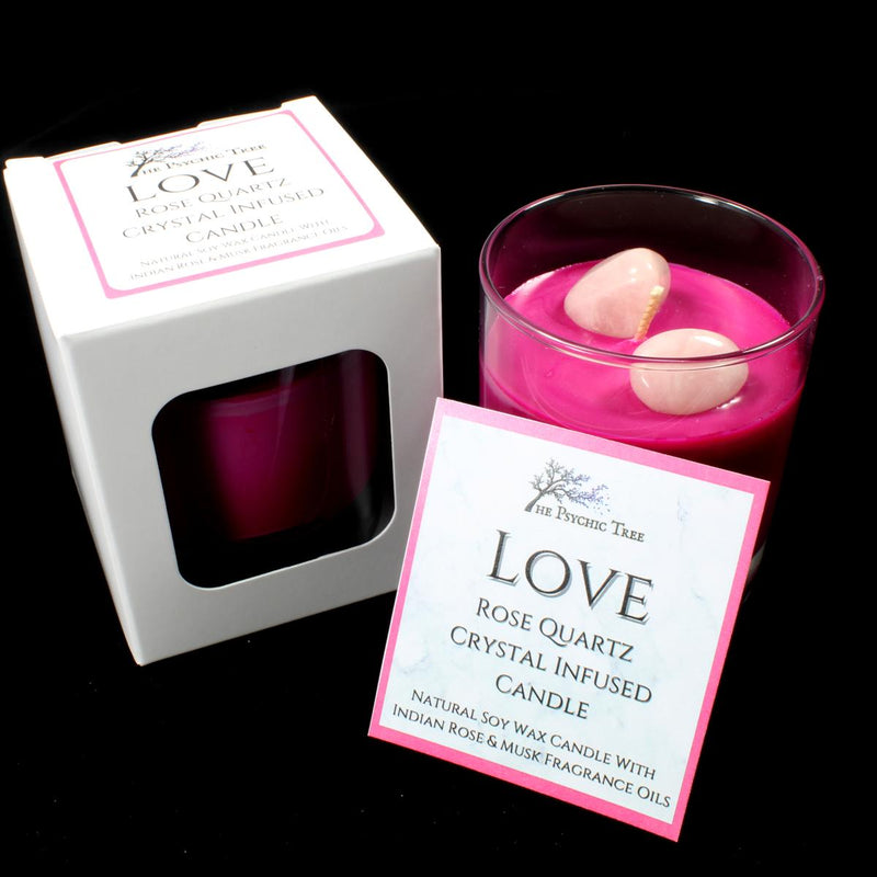 Love - Crystal Infused Scented Candle