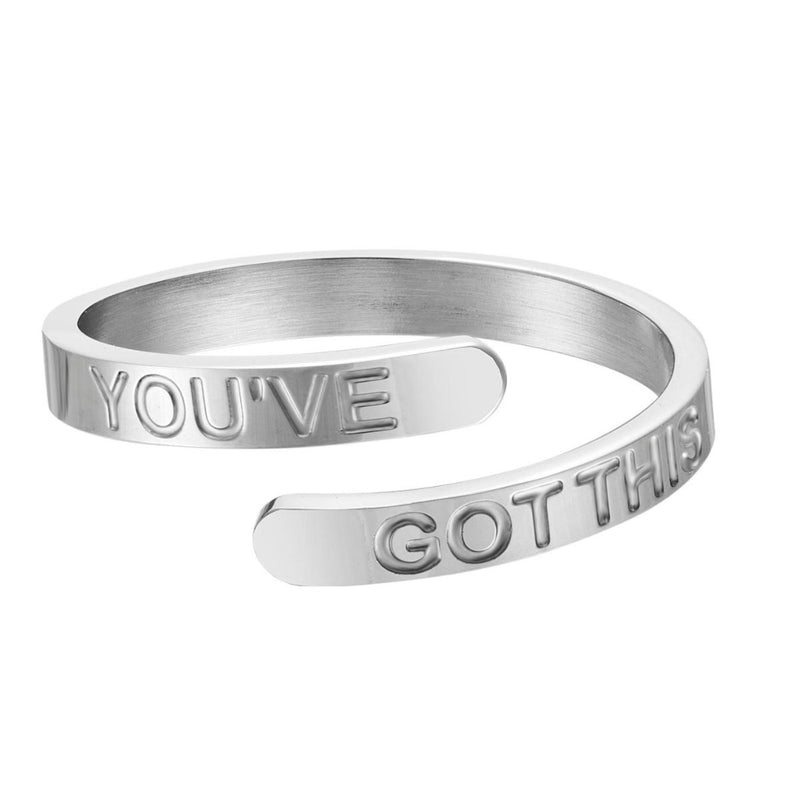You've Got This - Silver Affirmation Ring