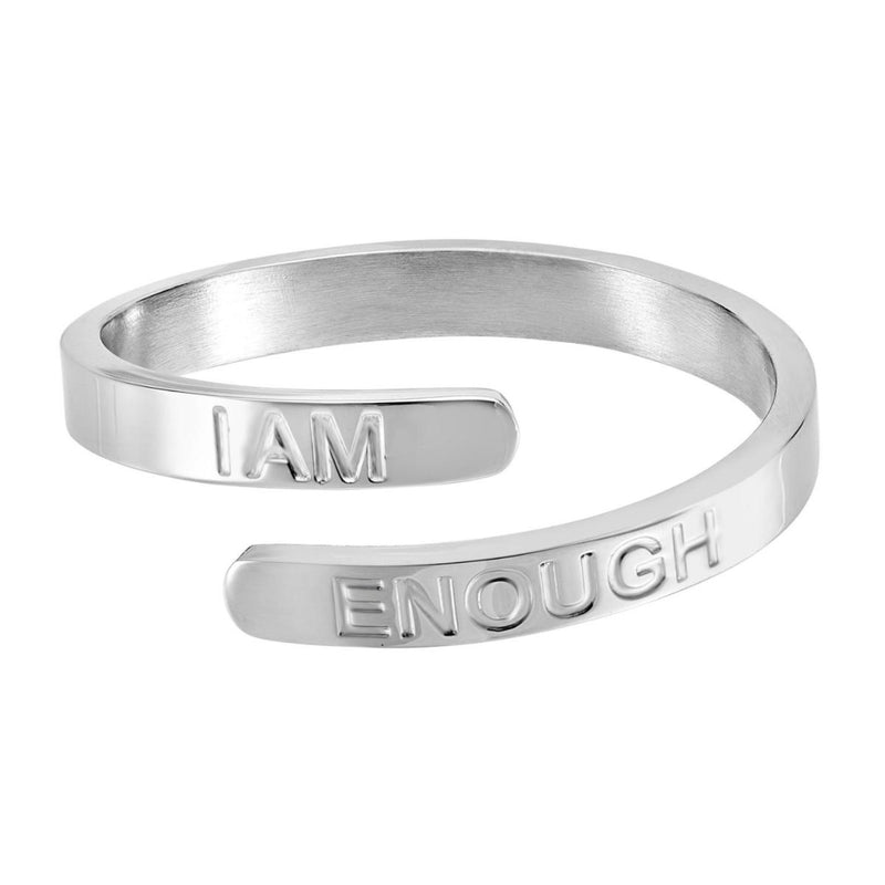 I Am Enough - Silver Affirmation Ring