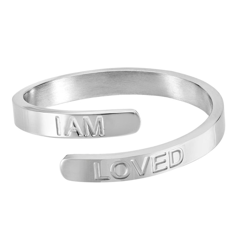 I Am Loved - Silver Affirmation Ring