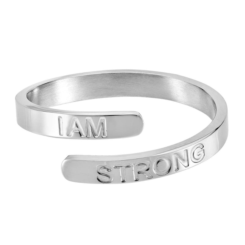 I Am Strong - Silver Affirmation Ring
