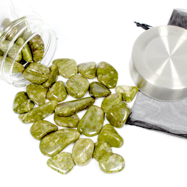 Crystal Water Bottle Pack - Spotted Epidote for Change