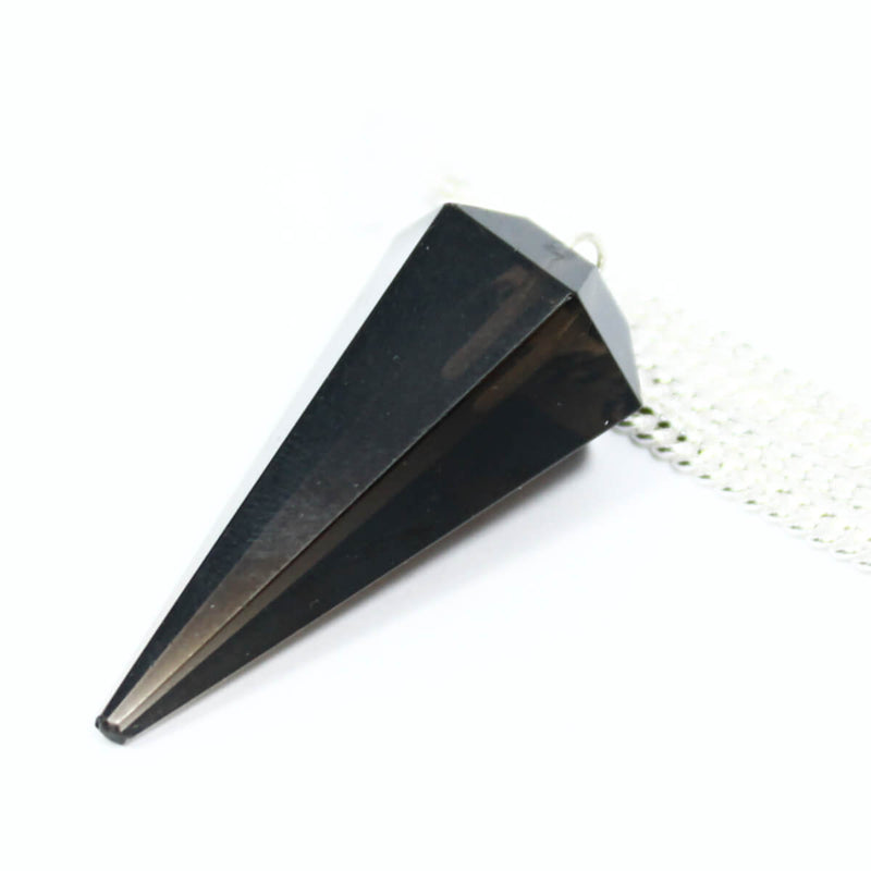 Smokey Quartz Faceted Cone Pendulum