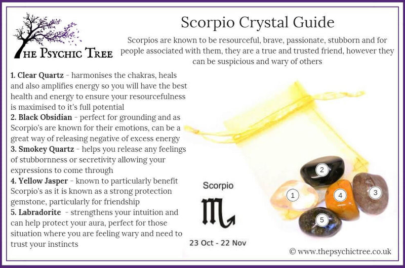 Scorpio - Sign Of The Zodiac Healing Crystal Pack