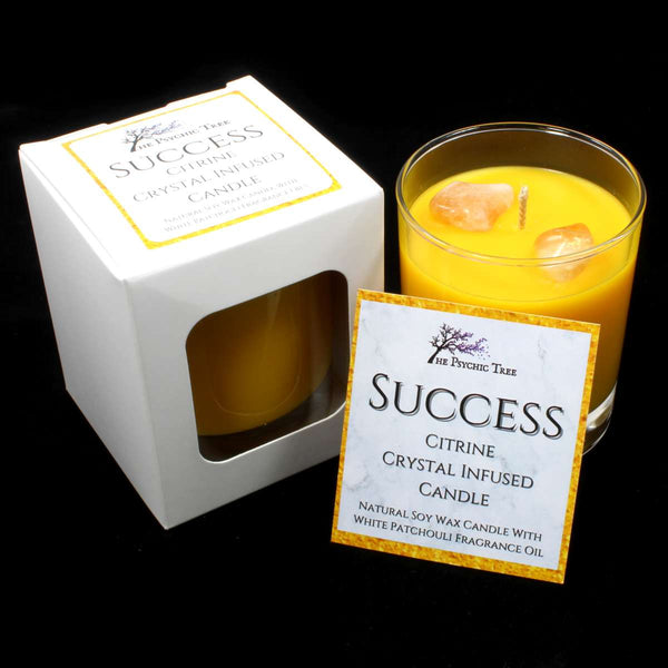 Success - Crystal Infused Scented Candle