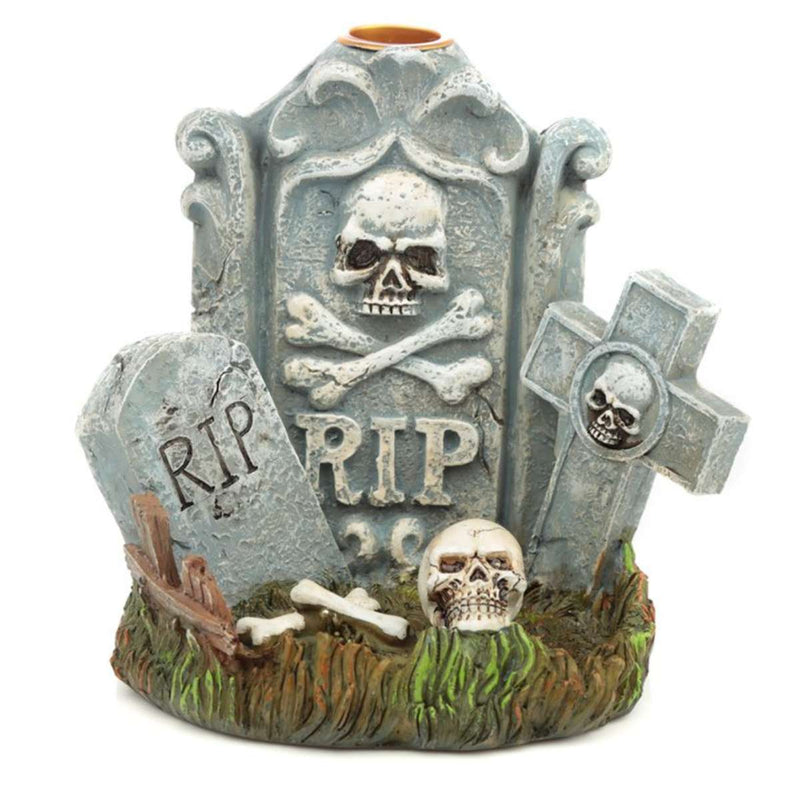 Halloween RIP Tombstone Backflow Incense Burner