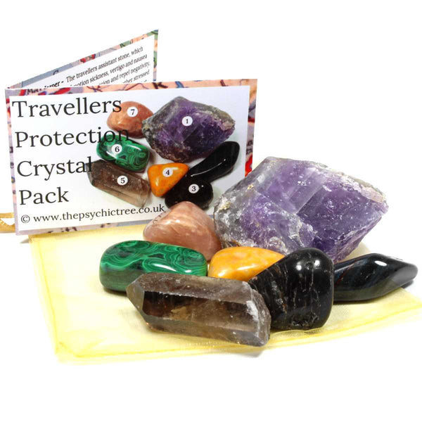 Travellers Protection Healing Crystal Pack