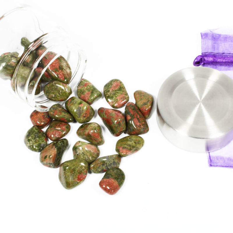 Crystal Water Bottle Pack - Unakite for Care and Compassion