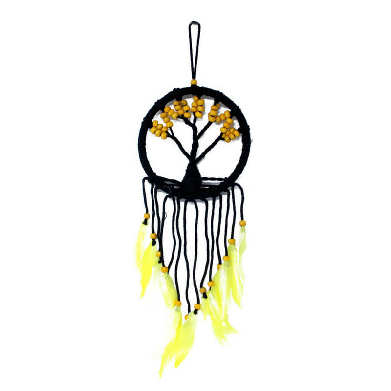 Tree of Life Dreamcatcher (16cm) - Yellow