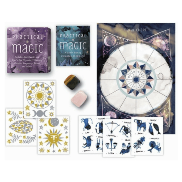 Practical Magic : Includes Rose Quartz and Tiger's Eye Crystals, 3 Sheets of Metallic Tattoos, and More! by Nikki Van de Car