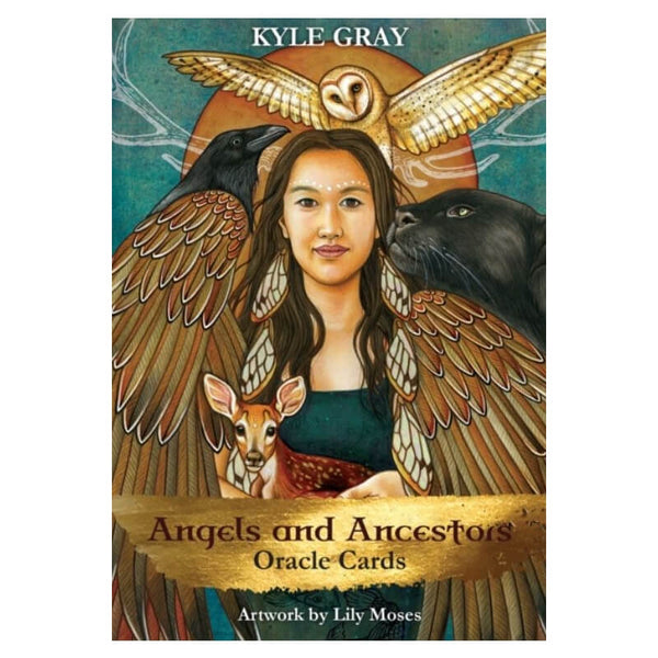 Angels and Ancestors Oracle Cards : A 55-Card Deck and Guidebook by Kyle Gray