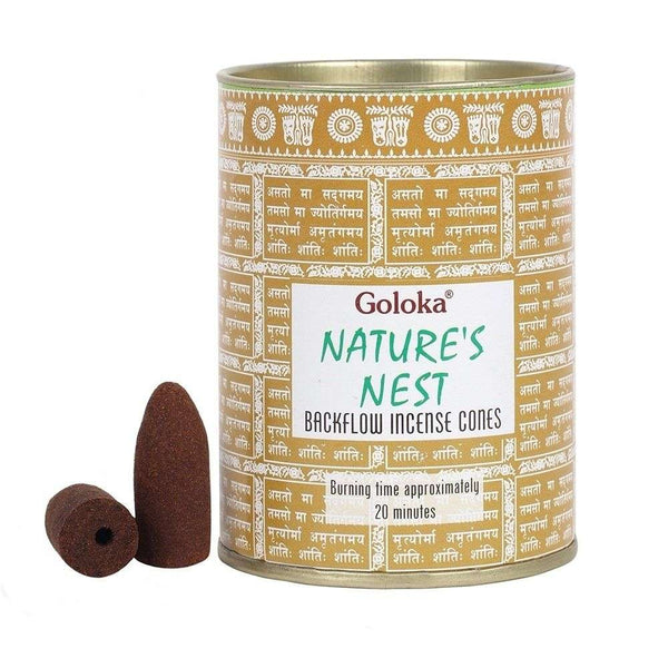 Goloka Nature's Nest Backflow Incense Cones