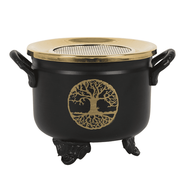 Tree Of Life Cauldron Resin Incense Burner
