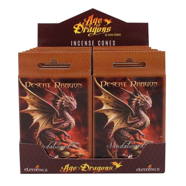 Desert Dragon Incense Cones by Anne Stokes