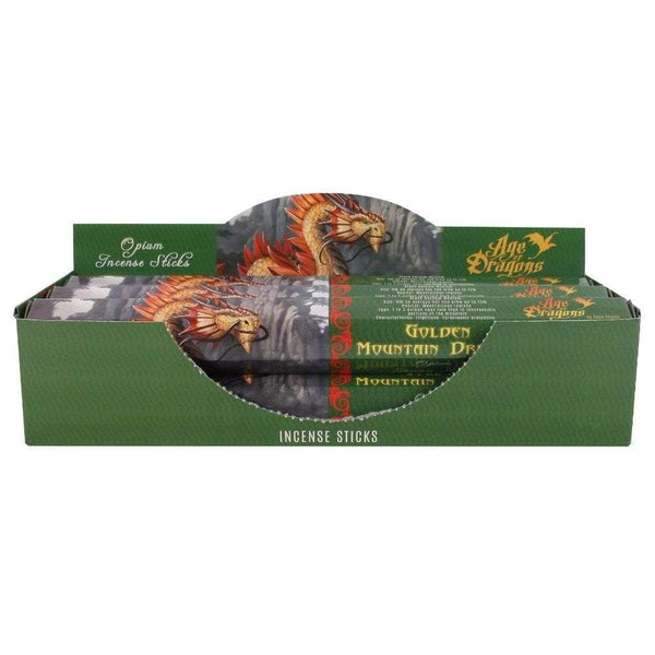 Golden Mountain Dragon Incense Sticks by Anne Stokes
