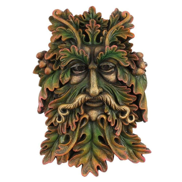 Green Man Face Plaque