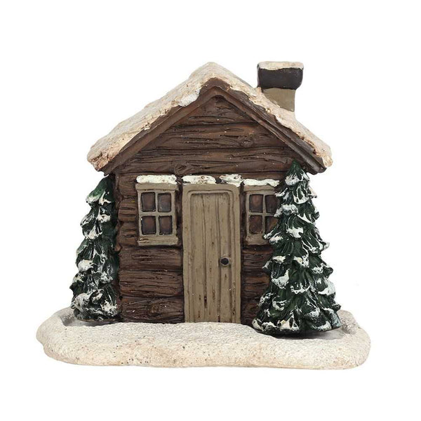 Winter Log Cabin Incense Cone Burner