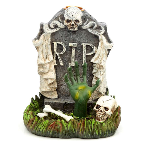 Halloween RIP Zombie Hand Tombstone Backflow Incense Burner